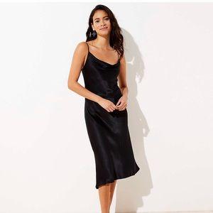 ✅ LOFT Draped Midi Dress